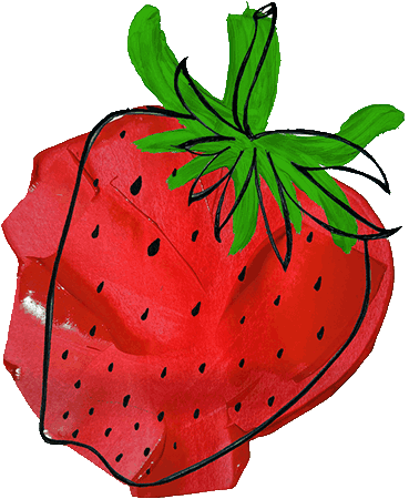 strawberry-drawing