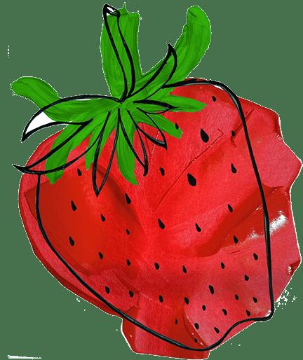 strawberry-drawing