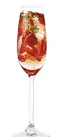 Cocktails frais aux fraises et aux framboises
