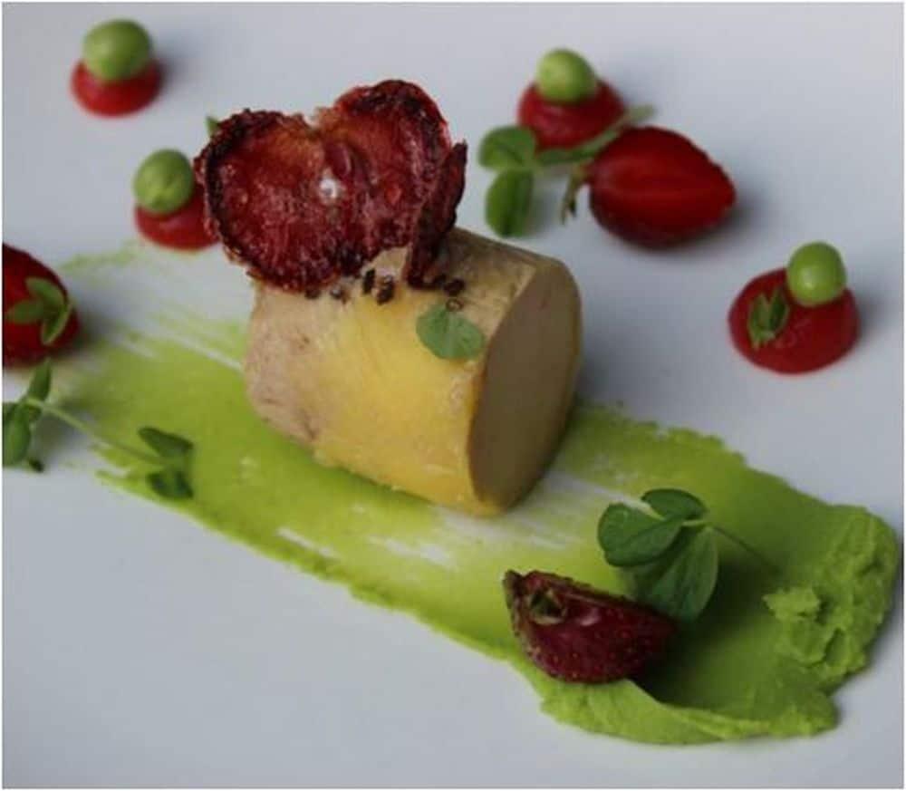 Foie gras petits pois
