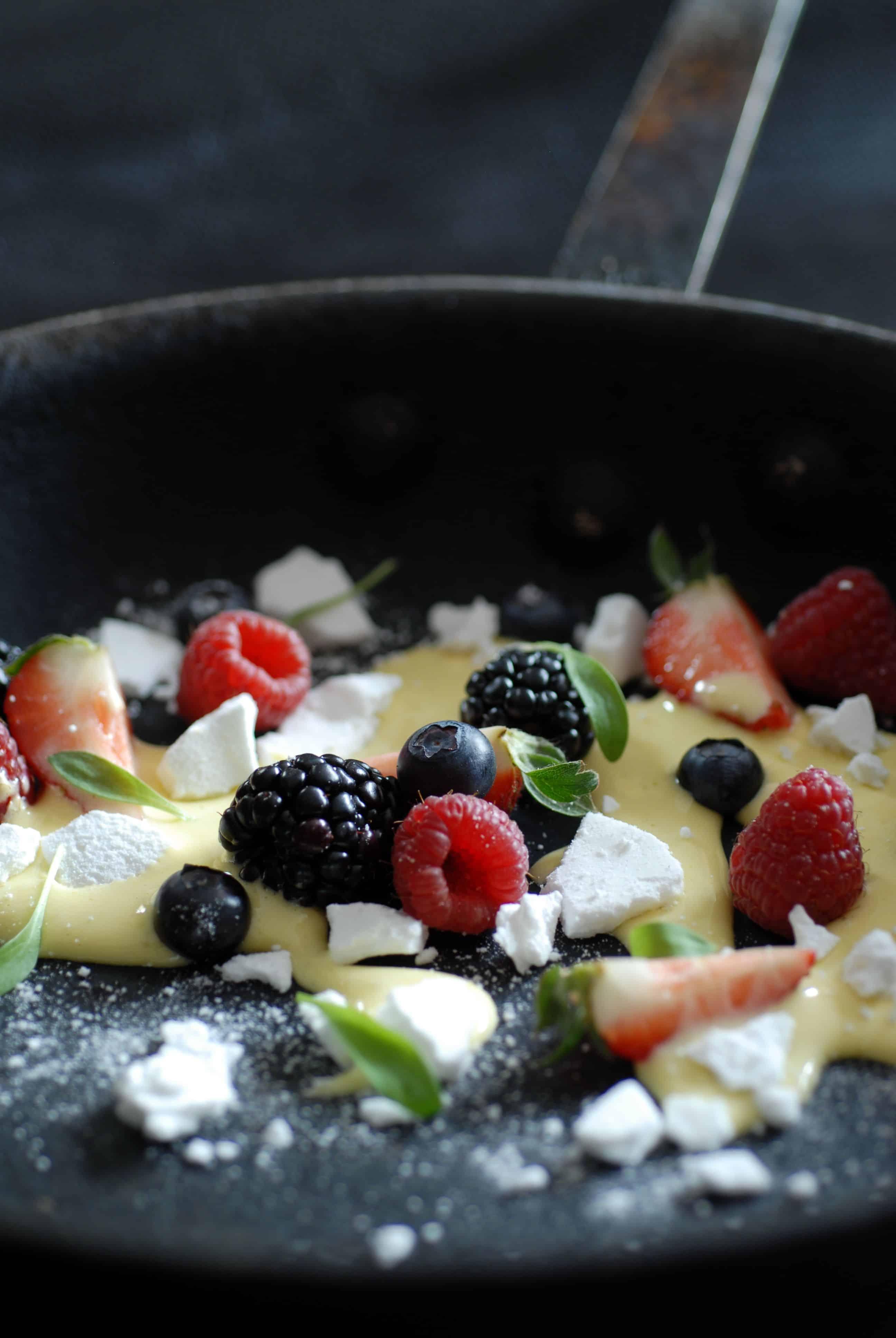 Petits fruits sabayon