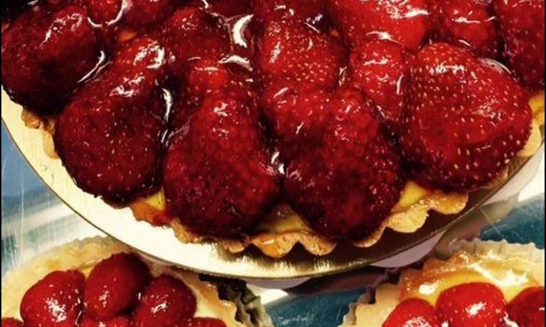 Tarte fraises fraîches du Québec