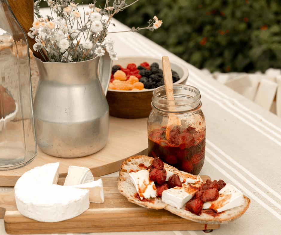 Pots confiture fraises
